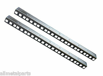8U Rack Strips Zinc Plated Sold In Pairs 24mm X 19mm 1.5mm  • 9.49£