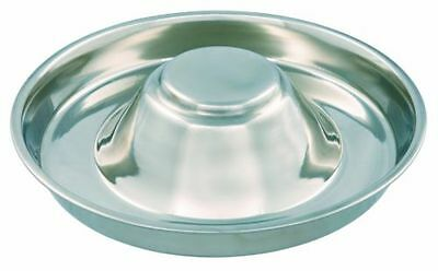 £9.75 • Buy Trixie Stainless Steel Puppy Feeding Saucer Weaning Bowl Medium Or XL Whelping