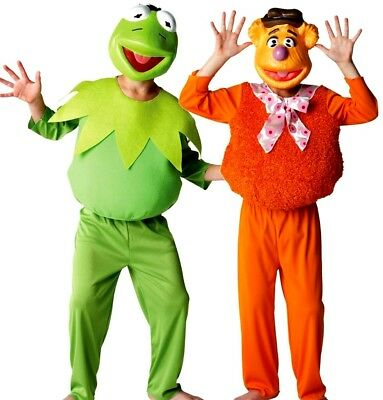 Boys Disney Licensed Muppets DELUXE KERMIT Or FOZZY BEAR Fancy Dress Most Wanted • 16.95£