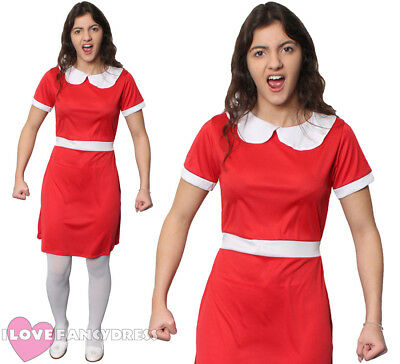 Ladies Spoilt Golden Ticket Winner Fancy Dress Costume Chocolate Factory Girl • 8.99£