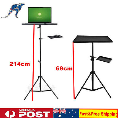 AU50.57 • Buy Adjustable Tripod Laptop Stand With Tray For Notebook Computer Projector AU