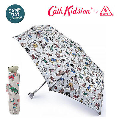 Cath Kidston Billy Dogs Dog Handle Minilite Handbag Size Folding Umbrella Cover • 24.95£