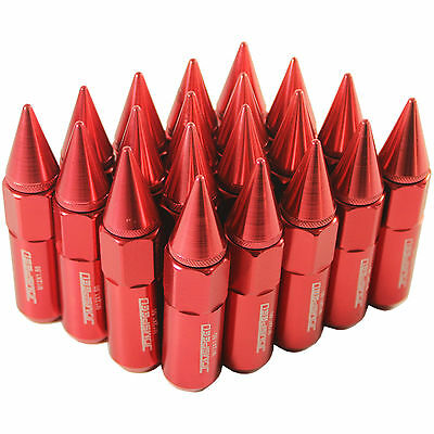 AU36.99 • Buy 20PCS Red 60MM M12X1.5 Cap Spiked Extended Tuner Aluminum Wheel Lug Nuts