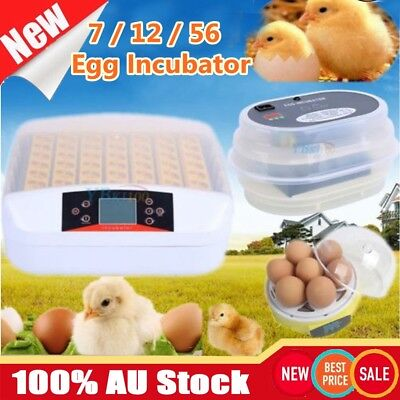 AU22.99 • Buy 7 12 24 56 Egg Incubator Automatic Digital LED Turning Chicken Duck Poultry Bird
