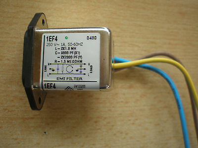 £8.75 • Buy New  1amp 250 Volts IEC Inlet Mains Filter EMI/RFI  1EF4   Made By Corcom   Z873