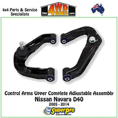 AU760 • Buy SuperPro Adjustable Upper Control Arm Kit Fit Navara D40 2005 - 2014 TRC540