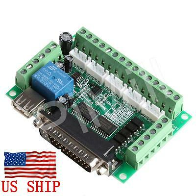 $18.49 • Buy 5 Axis CNC Interface Adapter Breakout Board For Stepper Motor Driver Mach3 W/USB