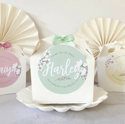 £1.85 • Buy Personalised Activity Box | BLOSSOM | Kids Wedding Party Gift Bag Boxes