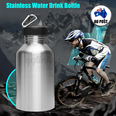 AU20.79 • Buy 2L Silver Stainless Steel Large Mouth Water Drink Bottle Kettle Cycling Sports