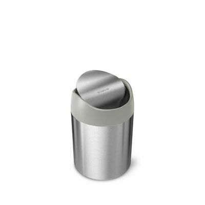 Simplehuman 1.5L  Brushed Stainless Steel Table Top Waste Bin • 12.99£