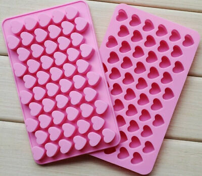 55 Wax Melt Mould Sweet Hearts Silicone Chocolate  Mold Baking Valentine Jelly • 3.69£