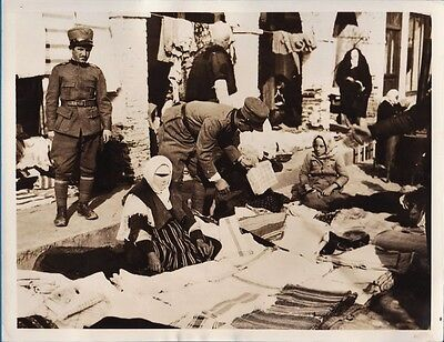 $ CDN40.02 • Buy Vintage Photo Veiled Women Police Tirana Bazaar Italy Invasion War Albania 1939