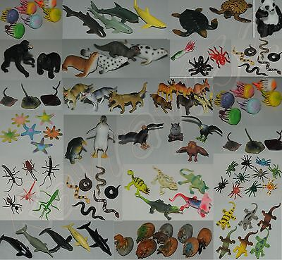 Plastic Farm Zoo Wild Jungle Animals Bugs Insects Sealife Animals UK SELLER ONLY • 4.10£