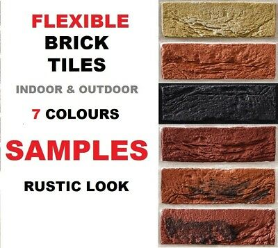 BRICK SLIPS CLADDING WALL TILES FLEXIBLE ( Pack Of 7 )  SAMPLES ONLY • 4.99£