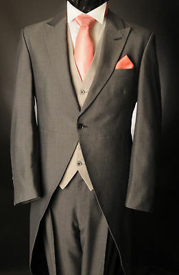 £34.99 • Buy Men's Grey Mohair Two Piece Formal Tailcoat Suit For Ascot/wedding Tails Mj-210