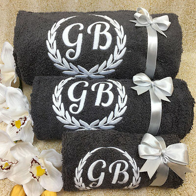 New EMBROIDERED PERSONALISED BATH TOWEL Ideal Gift Set ANY NAME Combet Cotton • 14.99£