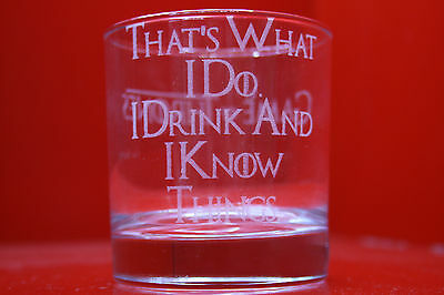 £12 • Buy Laser Engraved Tumbler Game Of Thrones I Drink And I Know Things Tyrion Quote