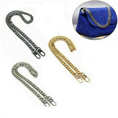 $6.64 • Buy Replacement Purse Chain Strap Handle Shoulder Crossbody Handbag Bag Metal 120cm