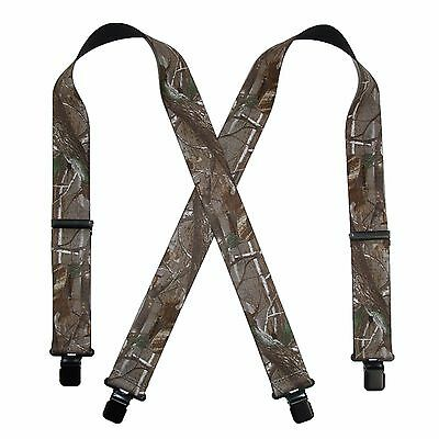 $19.50 • Buy New Realtree Men's Elastic Clip-End 2 Inch Camo Suspenders USA Made