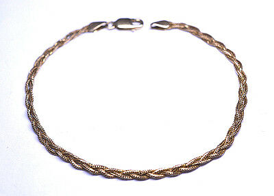 $149 • Buy 14k Yellow Gold Narrow Foxtail Braid Bracelet From Italy 2.4 Grams - 7.25 Inches