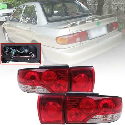 $295.74 • Buy 91-95 Mitsubishi Lancer Sedan 4 Windows Colt Tail Lamp Light Proformance Red