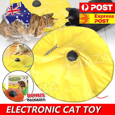 AU20.85 • Buy Electronic Interactive Cat Toys Cat's Meow Undercover Fabric Moving Mouse Fun