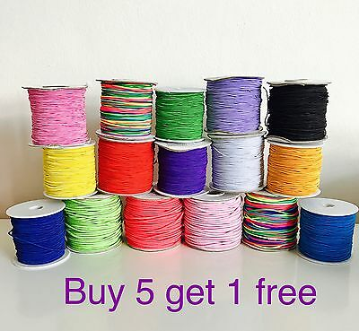 $ CDN6.19 • Buy 1mm 1,5mm 2mm Elastic Nylon Cord 1M- 10M Gr8 For Sewing, Craft Jewellery Making
