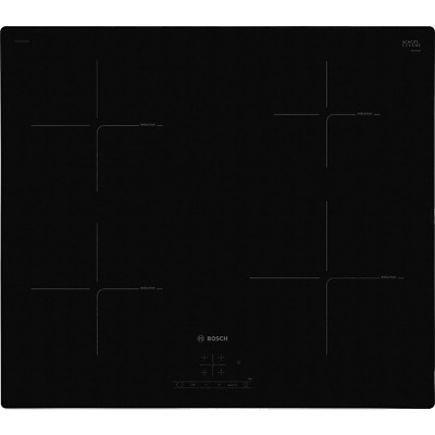 £299 • Buy Bosch PUE611BF1B Serie 4 59cm 4 Burners Induction Hob Touch Control Black