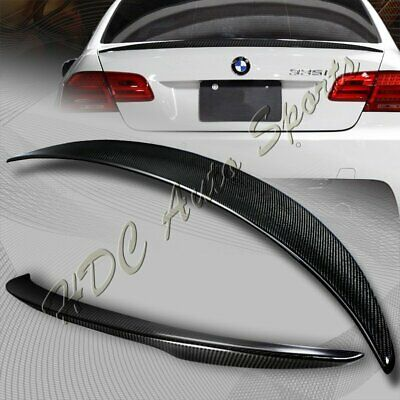 $105.99 • Buy For 2007-2013 BMW E92 2-DR M3 Style Real Carbon Fiber Rear Trunk Spoiler Wing
