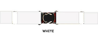 $9.95 • Buy Stretch Belt - White Elastic - Adjustable - 3 Sizes For Kids & Adults