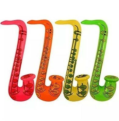 £1.75 • Buy 1x Inflatable Saxophone  Blow Up Hen/Stag Fancy Dress Party Musical Instrument