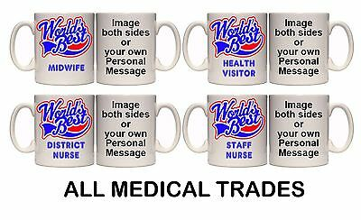 WORLD'S BEST MEDICAL TRADE PERSONAL MUG & COASTER (M12) 11oz - 15oz GIFT • 7.99£
