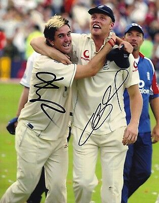 Andrew Flintoff & Kevin Pietersen Signed 10X8 Photo Ashes 2005 AFTAL COA (2536) • 79.95£
