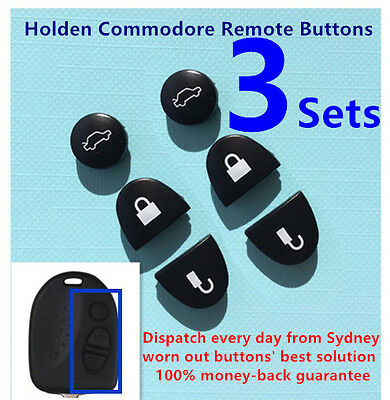 AU5.90 • Buy 3 Sets Key Remote Buttons Holden Commodore Key Buttons VS VZ WH WK WL VT VX VY