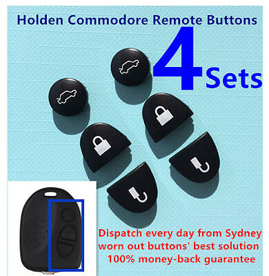 AU7 • Buy 4 Sets Key Remote Buttons Holden Commodore Key Buttons VS VZ WH WK WL VT VX VY