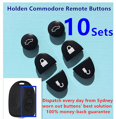 AU16 • Buy 10 Sets Key Remote Buttons Holden Commodore Key Buttons VS VZ WH WK WL VT VX VY