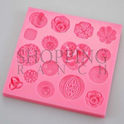 Pretty Fancy Vintage Jewel Brooches Silicone Mould Cake Topper Mold Chocolate • 6.05£