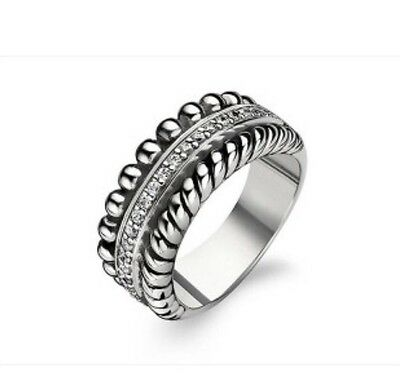 £79.99 • Buy New Genuine Ti Sento Sterling  Silver And CZ Set Ring 1836ZI Size 54/N £109