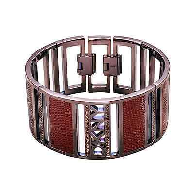 New Genuine DKNY Brown Stainless Steel And Leather Bracelet NJ1214 £125.00 • 62.50£