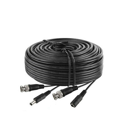 $ CDN17.99 • Buy 15Ft Security Camera Cable CCTV Video Power Wire BNC RCA Black Cord DVR