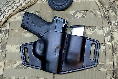 $70 • Buy Survival Series Holster For M&P Shield .45 Leather With Built In Mag Holder