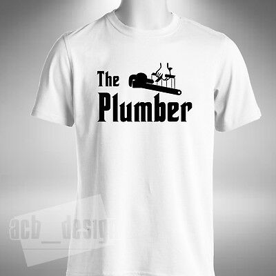 £9.99 • Buy The Plumber Mens T Shirt Funny God Father Style Plumbing Heating Hot Water
