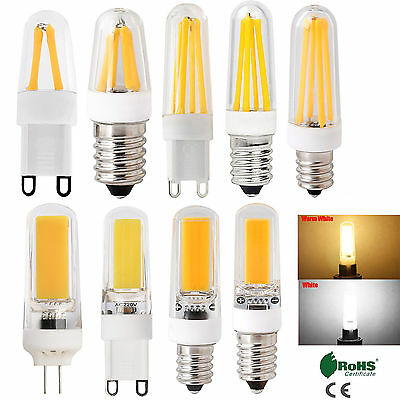 AU3.49 • Buy G4 G9 E12 E14 Dimmable LED Corn Bulb Silicone Crystal COB Filament Light Lamp