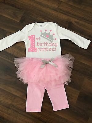 AU35 • Buy Baby Girl 1st Birthday Outfit Cake Smash Milestone Bodysuit Tutu