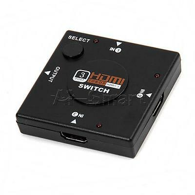 3 Way Port HDMI Switch Splitter 1080p INPUT 1 OUTPUT For PS3 PS4 Xbox 360 Sky HD • 2.58£