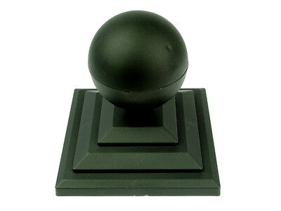 £19 • Buy Linic 10 X Black Sphere Round Top Fence Finial & 3  Fence Post Cap UK Mde GT0030