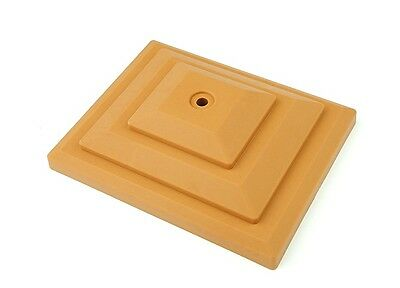 """£10.95 • Buy 10 Harvest Gold Light Brown 4"""" X 3"""" Plastic Fence Post Cap Finial UK Made GT0054"""