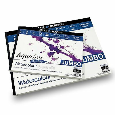 £17.99 • Buy Daler Rowney - Aquafine Textured Pad - 300gsm - 50 Pages - A3/A4 Made In England