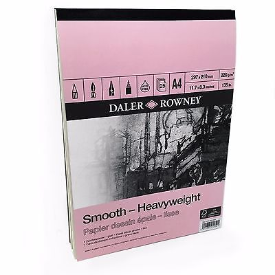 Daler Rowney – Smooth Heavyweight Sketchbook – 220gsm - 25 Pages – A4 Portrait • 8.29£