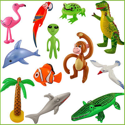 Fun Inflatable Animals Kid's Birthday Fancy Dress Party Animals Fishes Gift Toys • 2.99£
